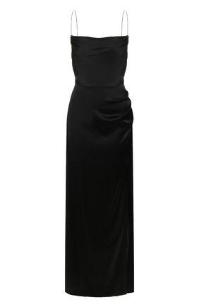 Женское шелковое платье RETROFÊTE черного цвета, арт. HL20-2433   Фото 1