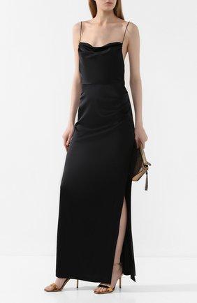 Женское шелковое платье RETROFÊTE черного цвета, арт. HL20-2433   Фото 2