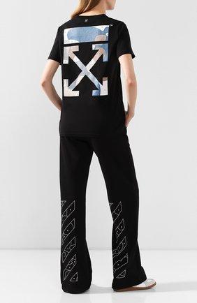 Женская хлопковая футболка OFF-WHITE черного цвета, арт. 0WAA049S20JER0101084 | Фото 2