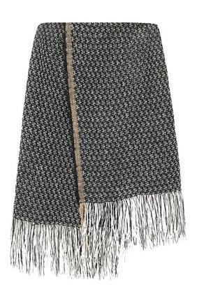 Женская юбка DOROTHEE SCHUMACHER серого цвета, арт. 743015/FRINGY FANTASY | Фото 1