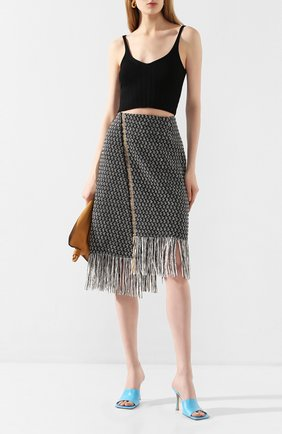 Женская юбка DOROTHEE SCHUMACHER серого цвета, арт. 743015/FRINGY FANTASY | Фото 2