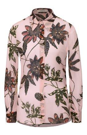 Женская рубашка из вискозы DOROTHEE SCHUMACHER розового цвета, арт. 749101/FL0RAL TRANSPARE | Фото 1