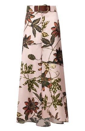 Женская шелковая юбка DOROTHEE SCHUMACHER розового цвета, арт. 749606/P0WERFUL FL0RA | Фото 1