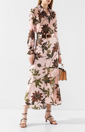Женская шелковая юбка DOROTHEE SCHUMACHER розового цвета, арт. 749606/P0WERFUL FL0RA | Фото 2