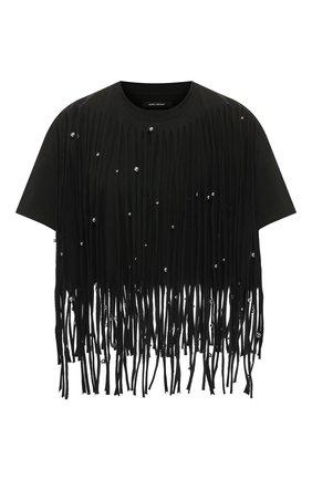 Женская хлопковая футболка ISABEL MARANT черного цвета, арт. TS0747-20E054I/BIANEA | Фото 1