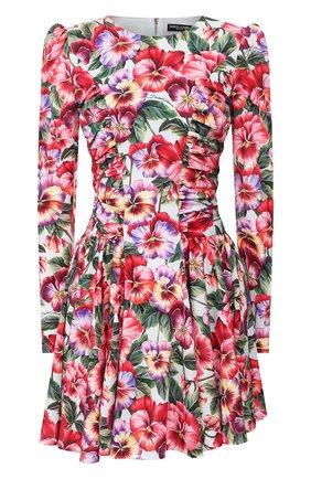 Женское шелковое платье DOLCE & GABBANA разноцветного цвета, арт. F6I0TT/FSAZX | Фото 1