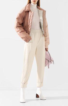 Женский бомбер NANUSHKA розового цвета, арт. B0MI_BLUSH PATCHW0RK_VEGAN LEATHER | Фото 2