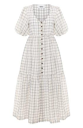 Женское платье-миди ERIKA CAVALLINI черно-белого цвета, арт. PE/B/E0SP01 | Фото 1