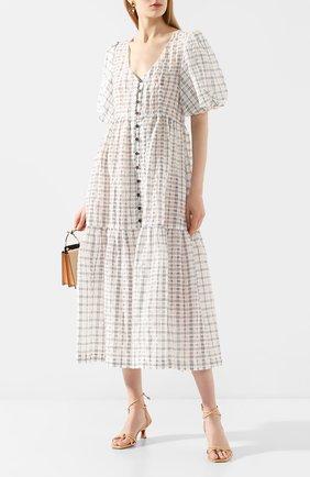 Женское платье-миди ERIKA CAVALLINI черно-белого цвета, арт. PE/B/E0SP01 | Фото 2