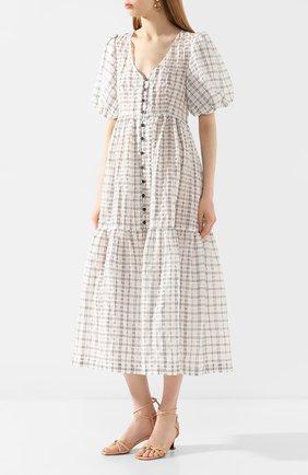 Женское платье-миди ERIKA CAVALLINI черно-белого цвета, арт. PE/B/E0SP01 | Фото 3