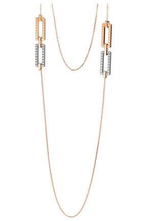 Женские колье CHOPARD розового и белого золота цвета, арт. 819895-9002 | Фото 1