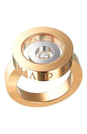 Женские кольцо CHOPARD розового и белого золота цвета, арт. 825405-9110 | Фото 1