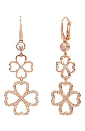 Женские серьги CHOPARD розового золота цвета, арт. 839422-5001 | Фото 1
