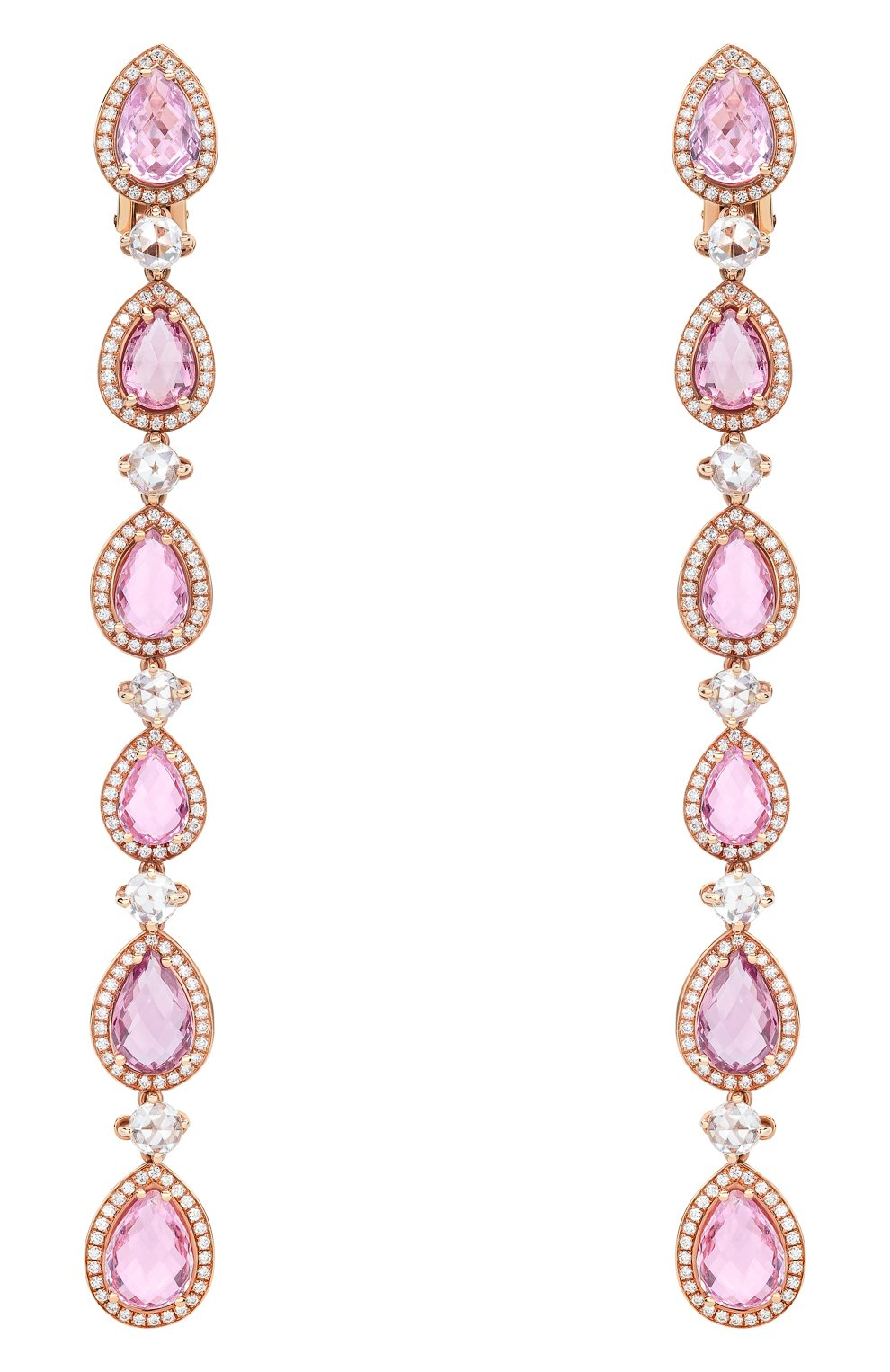 Женские серьги CHOPARD розового золота цвета, арт. 840416-5002 | Фото 1