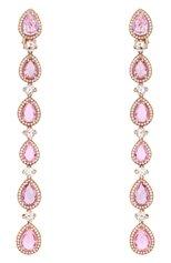 Женские серьги CHOPARD бесцветного цвета, арт. 840416-5002 | Фото 1 (Материал сплава: Розовое золото; Драгоценные камни: Сапфиры)