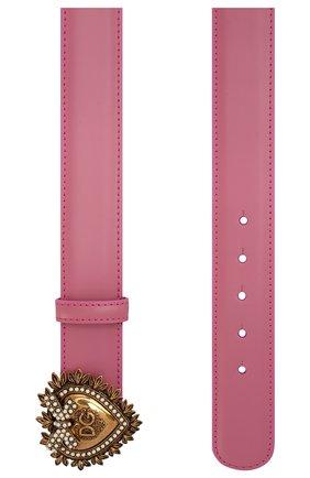 Женский кожаный ремень DOLCE & GABBANA розового цвета, арт. BE1315/AK861 | Фото 2