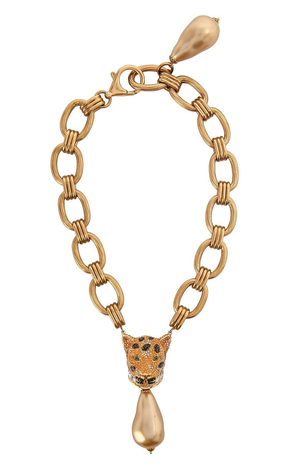 Женское колье DOLCE & GABBANA золотого цвета, арт. WNM4A3/W1111   Фото 1