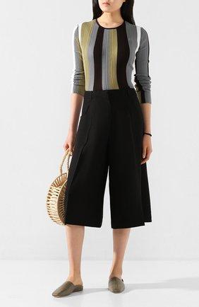 Женские кожаные сабо dax x deveaux MALONE SOULIERS хаки цвета, арт. DAX FLAT 3 | Фото 2