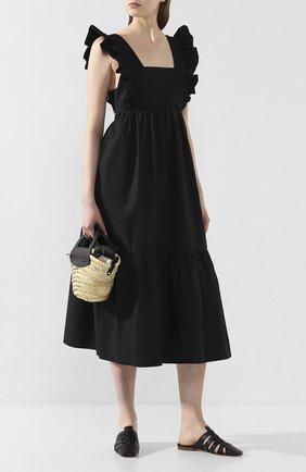 Женские кожаные сабо diana x deveaux MALONE SOULIERS черного цвета, арт. DIANA FLAT 2 | Фото 2