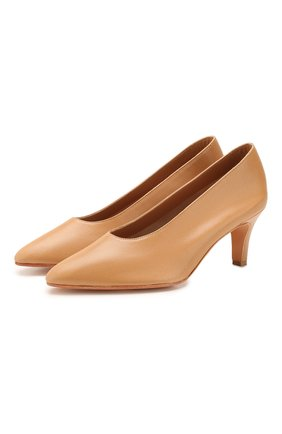 Женская кожаные туфли MARTINIANO светло-коричневого цвета, арт. 034/PARTY/KID LEATHER   Фото 1