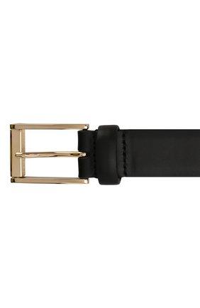 Мужской кожаный ремень DOLCE & GABBANA черного цвета, арт. BC4434/AX622 | Фото 3