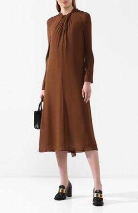 Женская кожаные туфли PRADA черного цвета, арт. 1D192M-P39-F0002-85   Фото 2