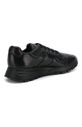 Мужские кожаные кроссовки prax 01 PRADA черного цвета, арт. 4E3388-72-F0002-G000   Фото 4 (Стили: Классический; Подошва: Массивная)