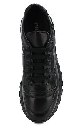 Мужские кожаные кроссовки prax 01 PRADA черного цвета, арт. 4E3388-72-F0002-G000   Фото 5 (Стили: Классический; Подошва: Массивная)