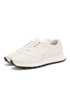 Мужские кожаные кроссовки prax 01 PRADA белого цвета, арт. 4E3388-72-F0009-G000 | Фото 1