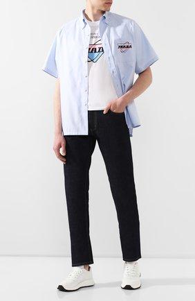 Мужские кожаные кроссовки prax 01 PRADA белого цвета, арт. 4E3388-72-F0009-G000 | Фото 2