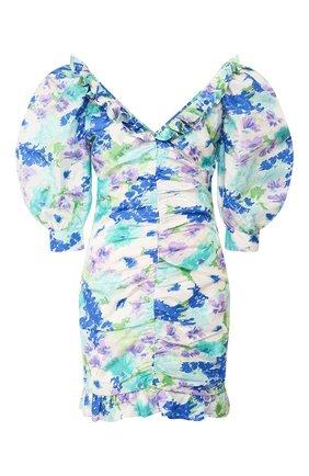 Женское шелковое платье ALESSANDRA RICH голубого цвета, арт. FAB2009-F2780 | Фото 1