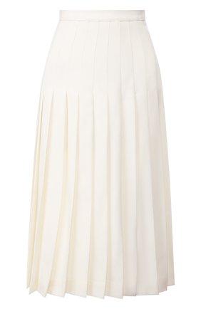 Женская шерстяная юбка ALESSANDRA RICH белого цвета, арт. FAB2137-F2333 | Фото 1