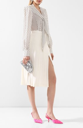 Женская шерстяная юбка ALESSANDRA RICH белого цвета, арт. FAB2137-F2333 | Фото 2
