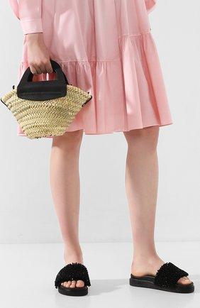 Женская сумка сabas mini HEREU черного цвета, арт. CABAS MINI/WBR20CANI001 | Фото 2