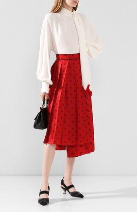 Женские текстильные туфли FENDI черного цвета, арт. 8J6969 A8UF | Фото 2