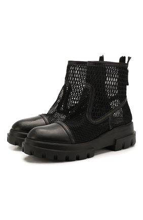 Женские комбинированные ботинки AGL черного цвета, арт. D756533BGK67451049 | Фото 1