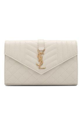 Женская сумка envelope SAINT LAURENT белого цвета, арт. 620280/B0W91 | Фото 1