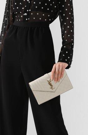 Женская сумка envelope SAINT LAURENT белого цвета, арт. 620280/B0W91 | Фото 2