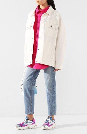 Женские кожаные кроссовки sergio extreme SERGIO ROSSI разноцветного цвета, арт. A86730-MFN609   Фото 2