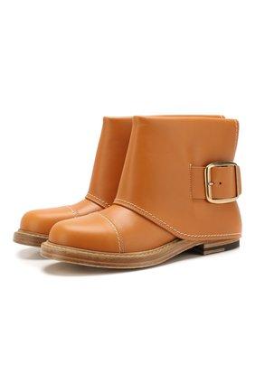 Женские кожаные ботинки ALEXANDER MCQUEEN светло-коричневого цвета, арт. 621834/WHXZ9 | Фото 1