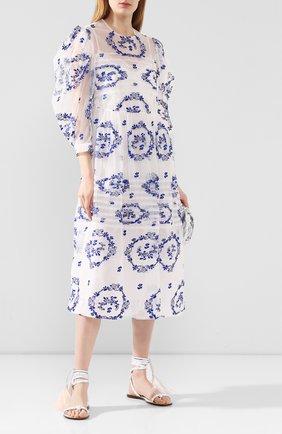 Женские кожаные сандалии valentino garavani rockstud flair VALENTINO белого цвета, арт. TW0S0X19/TMS   Фото 2