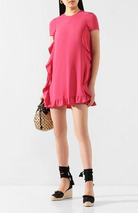Женские текстильные босоножки REDVALENTINO черного цвета, арт. TQ0S0D87/ZAH | Фото 2