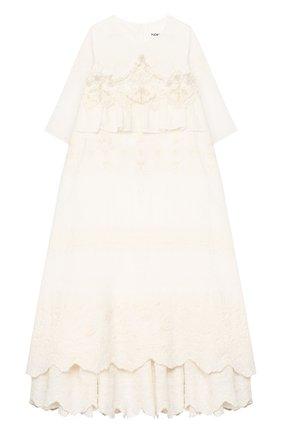 Женский хлопковое платье с шапкой YUDASHKIN KIDS бежевого цвета, арт. 219-BGE-173094 | Фото 2