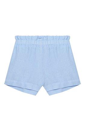 Детские льняные шорты IL GUFO голубого цвета, арт. P20PS063L6009/5A-8A | Фото 1