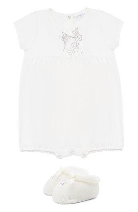 Детское комплект из песочника и пинеток LA PERLA бежевого цвета, арт. 48699 | Фото 1