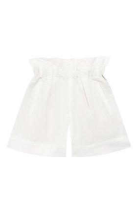 Детские хлопковые шорты BRUNELLO CUCINELLI белого цвета, арт. B0F48P011A | Фото 1