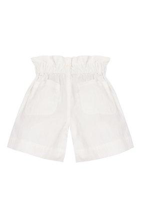 Детские хлопковые шорты BRUNELLO CUCINELLI белого цвета, арт. B0F48P011A | Фото 2