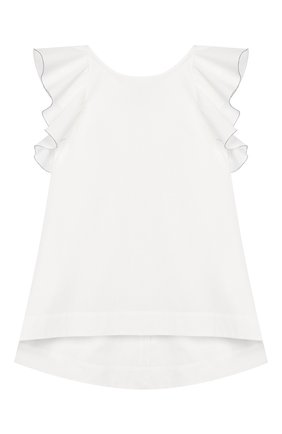 Детский хлопковый топ BRUNELLO CUCINELLI белого цвета, арт. BH127T006A | Фото 1