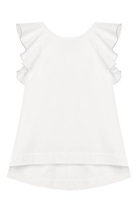 Детский хлопковый топ BRUNELLO CUCINELLI белого цвета, арт. BH127T006C   Фото 1