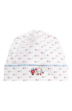 Детского хлопковая шапка MAGNOLIA BABY голубого цвета, арт. 896-50-LB | Фото 1